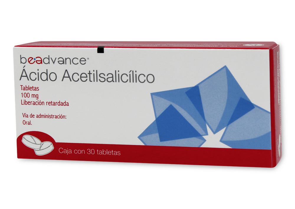 ACIDO ACETILSALICILICO 30 TAB 100MG