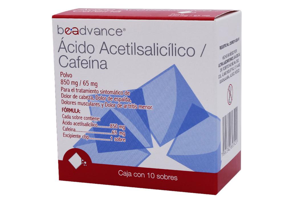AC. ACETILSAL/CAFEINA 10 SOB 850/65 MG