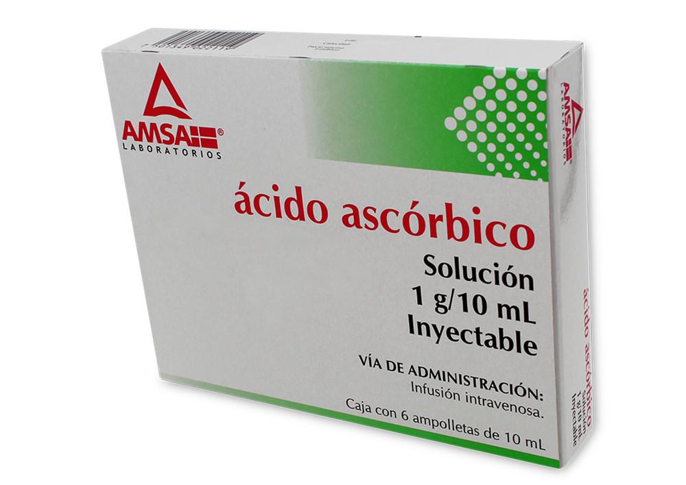 ACIDO ASCORBICO 6 AMP 1G/10 ML