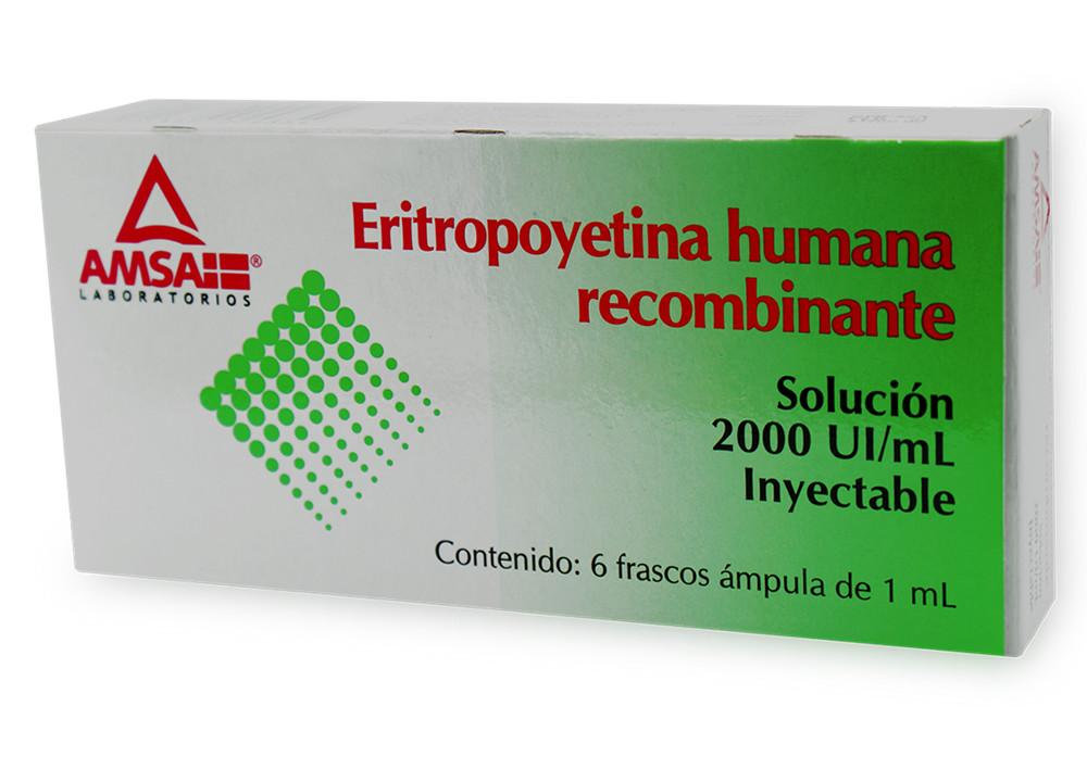 Eritropoyetina 2,000 Ui 1 Caja 6 Frasco Ampula 1 Ml
