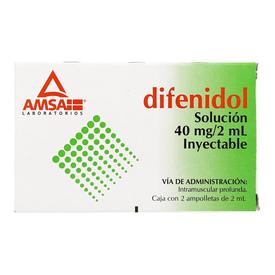Comprar Difenidol 40 Mg 1 Caja 2 Ampolletas 2 Ml