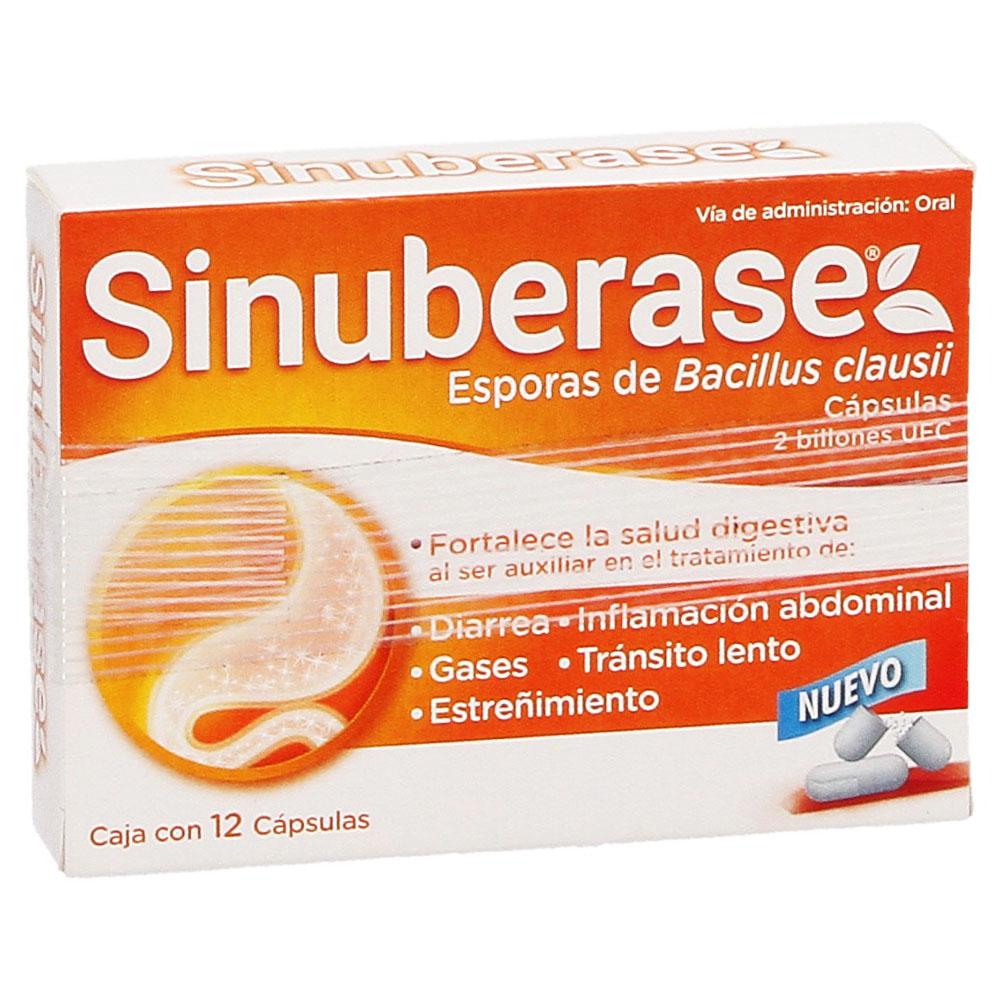 Comprar Sinuberase Caja 12 Capsulas