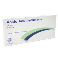 ACIDO ACETILSALICILICO EF 20 TAB 300 MG
