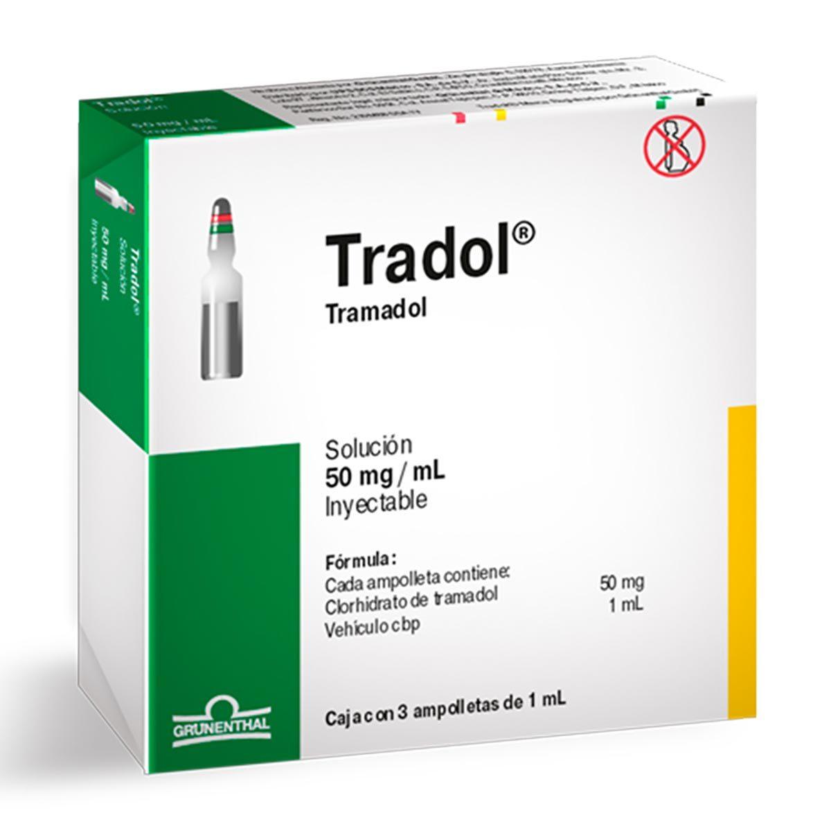 Comprar Tradol 50 Mg 1 Caja 3 Ampolletas 1 Ml