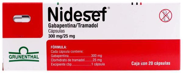 Comprar Nidesef 300/25 Mg Caja 20 Capsulas