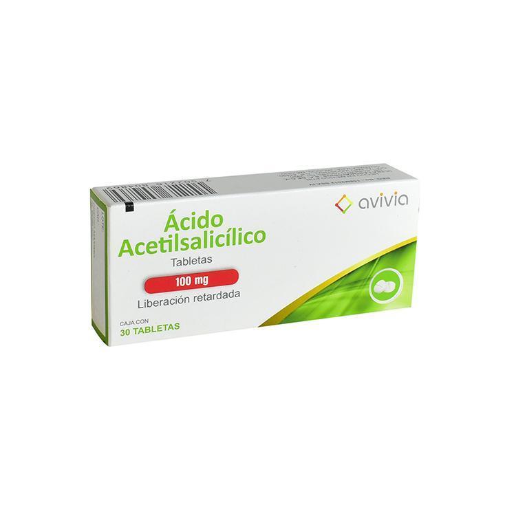 ACIDO ACETILSALICILICO   30 TAB 100 MG