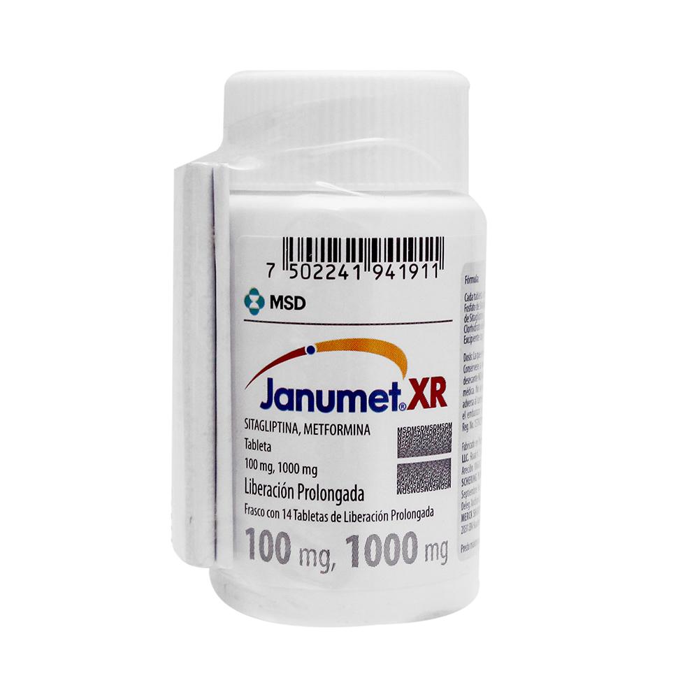 Comprar Janumet Xr 100/1000 Mg Caja 14 Tabletas