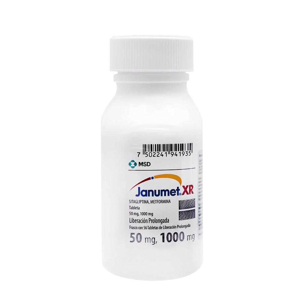 Janumet Xr 50/1000 Mg Caja 56 Tabletas