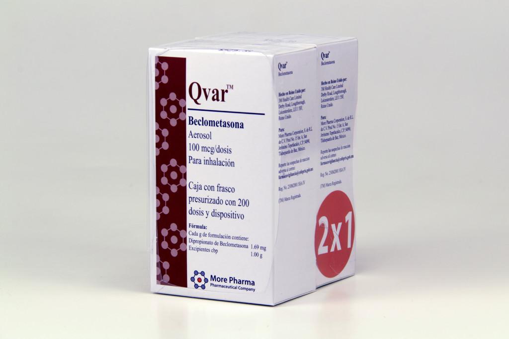 Comprar Qvar 1+1 Inhalador 100 Mg 1 Frasco Aerosol 200 Dosis