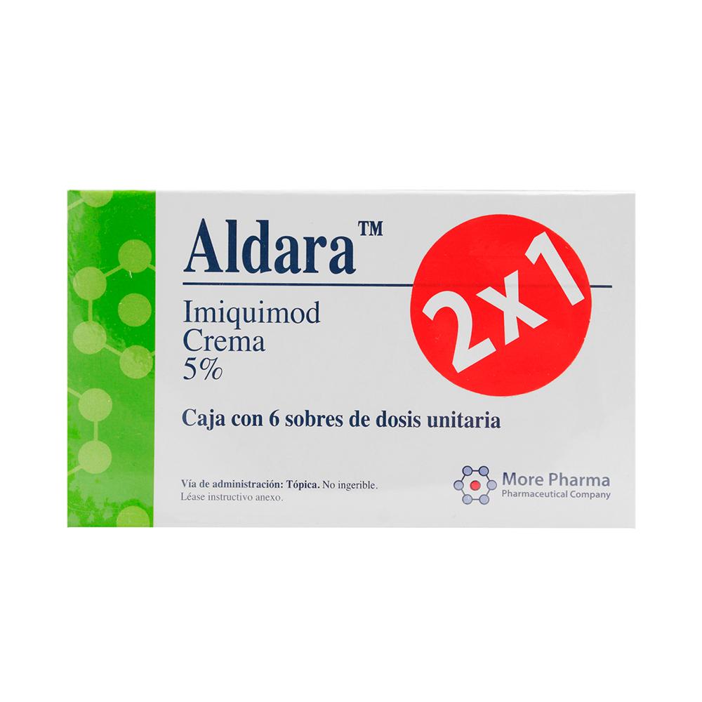 Aldara 2X1 250 Mg 6 Sobres Crema