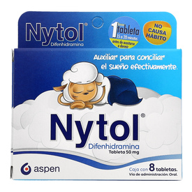 Comprar Nytol 50 Mg 1 Caja 8 Tabletas