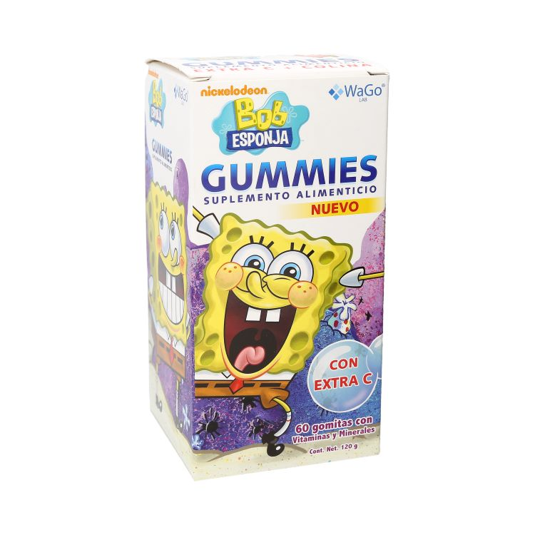 Comprar Wago Supl Aliment Gummies Bob Esponja 1 Frasco 60 Gomas 120 Gr