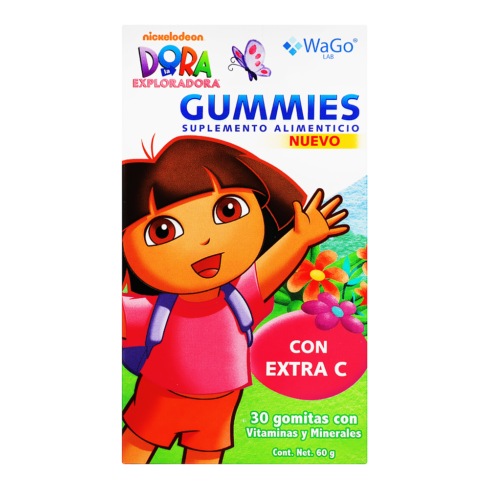 Comprar Wago Sup/Alim Gummies Dora La Expl 1 Frasco 30 Gomas 60 Gr