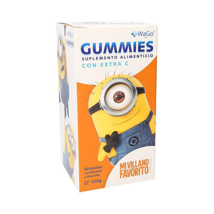 Comprar Wago Sup/Alim Gummies Minions Mvf 1 Frasco 60 Gomas 120 Gr