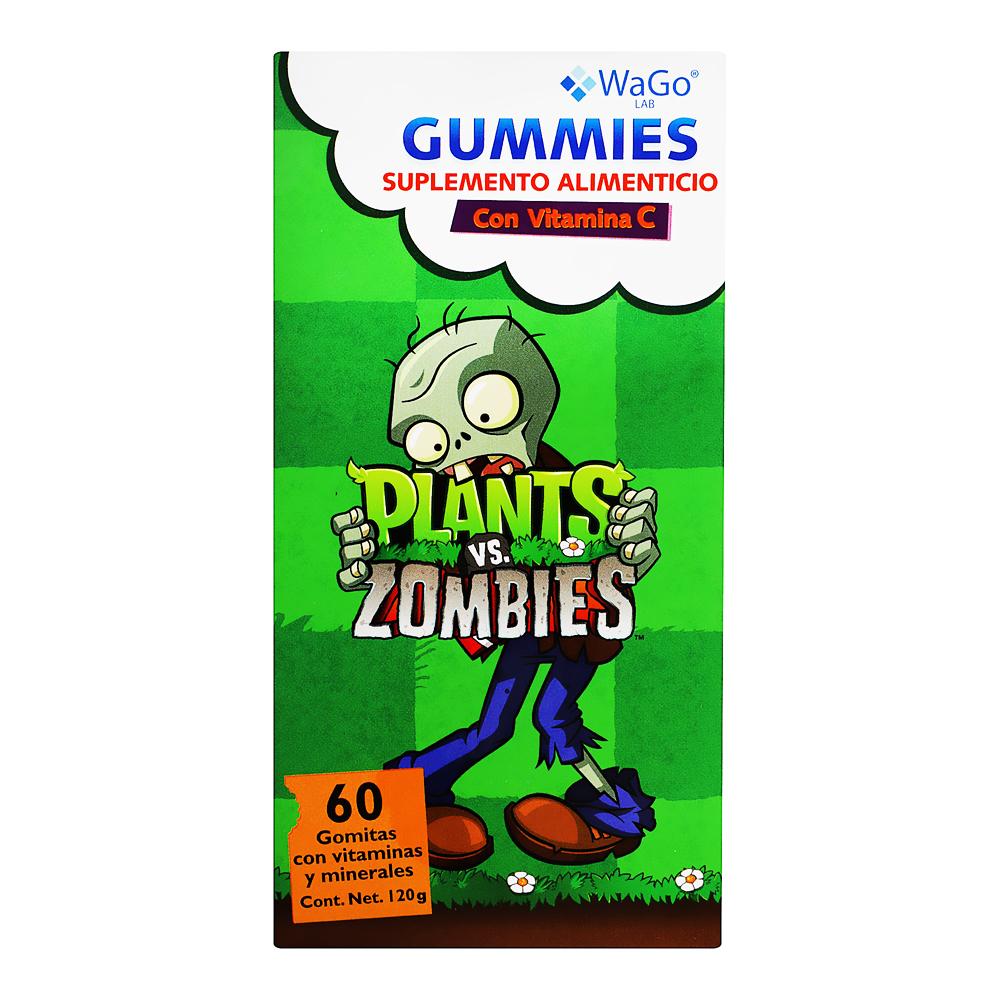 Comprar Wago Sup Alim Gummies Plants-Zombies 1 Caja 60 Gomas 120 Gr