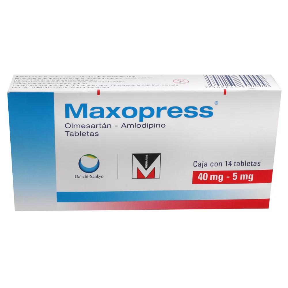 Comprar Maxopress 40/5 Mg Caja 14 Tabletas
