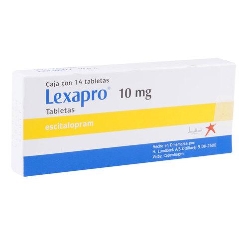 Comprar Lexapro 10 Mg Caja 14 Tabletas