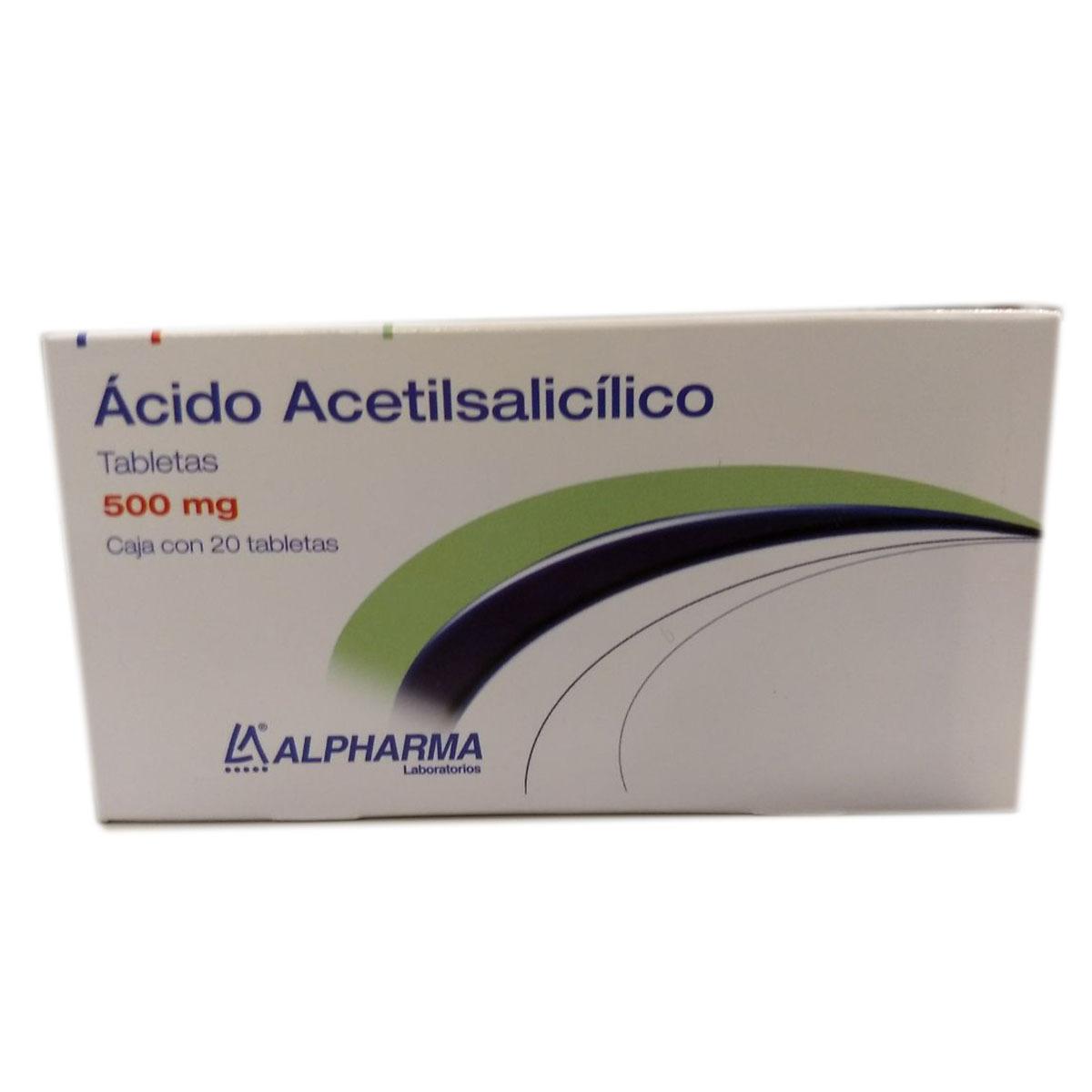 Comprar Acido Acetilsalicilico 1 Caja 20 Tabletas 500 Ml
