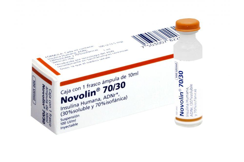 Comprar Novolin 30/70 100 Ui 1 Caja 1 Frasco Ampula 10 Ml