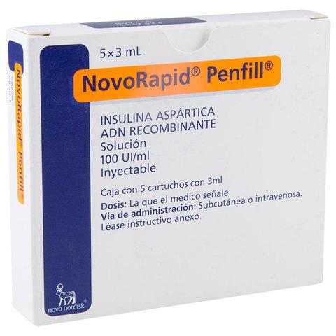 Comprar Novorapid Penfill 100 Ui 1 Caja 5 Viales 3 Ml