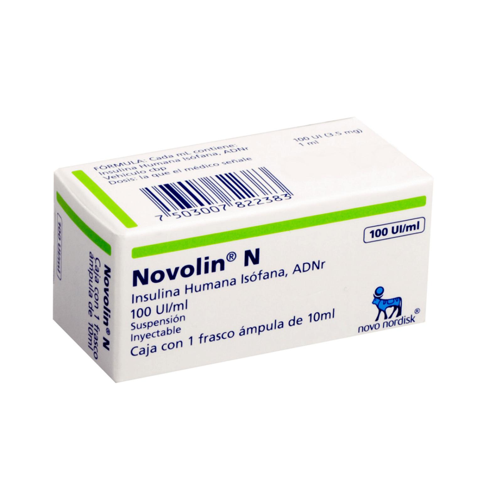 Comprar Novolin N 100 Ui 1 Caja 1 Vial 10 Ml
