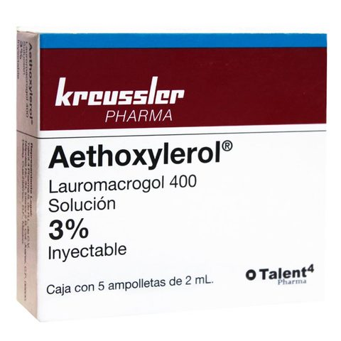 Aethoxylerol 3 % 1 Caja 5 Ampolletas 2 Ml