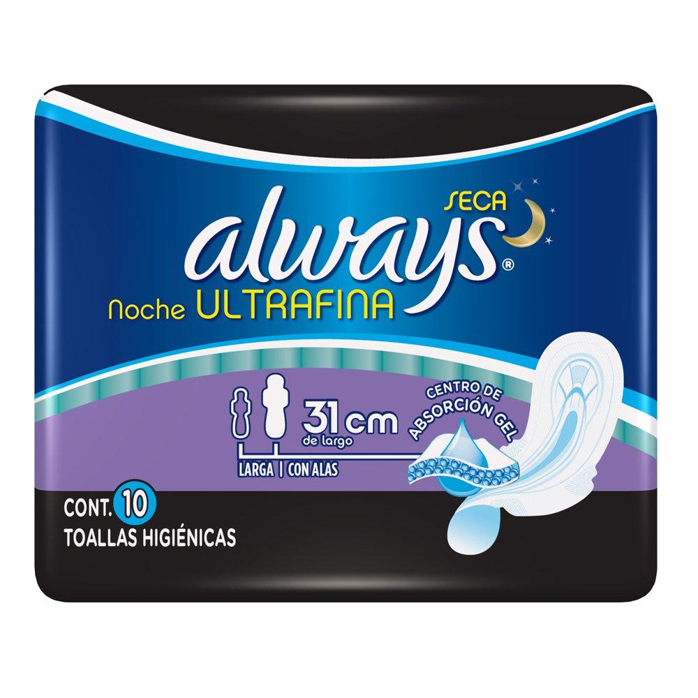 Comprar Always Ultra Noche Seca 1 Bolsa 10 Toallas