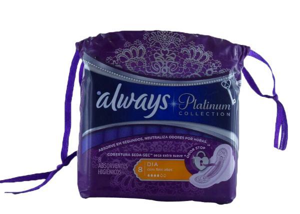 Comprar Always Platinum Dia C/A Toalla Femenina 8 Piezas