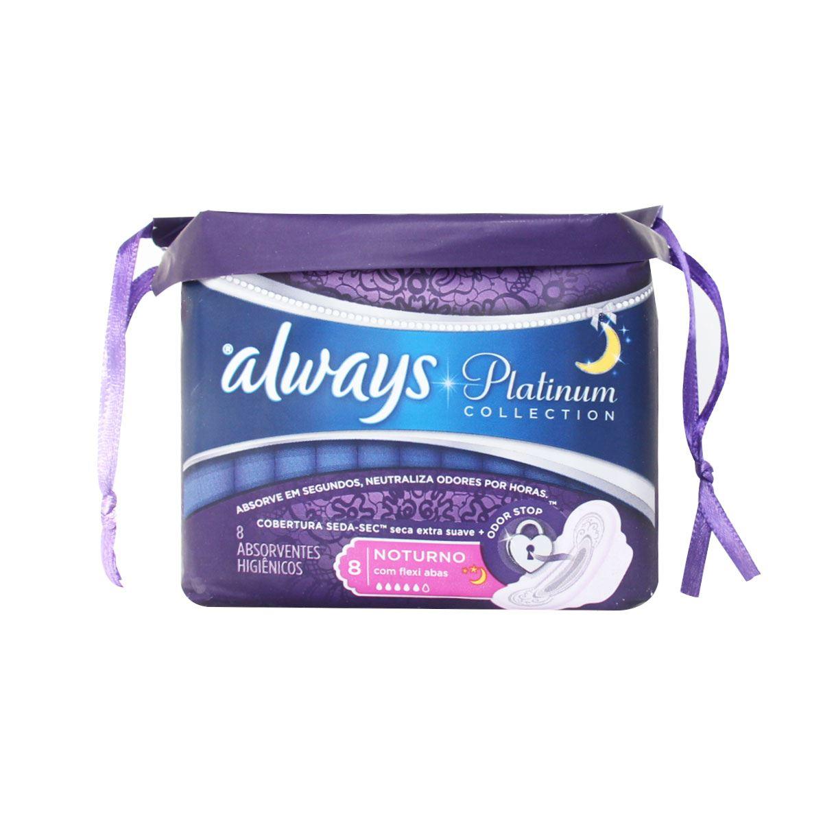 Comprar Always Platinum Nocturna C/A Toalla Femenina 8 Piezas