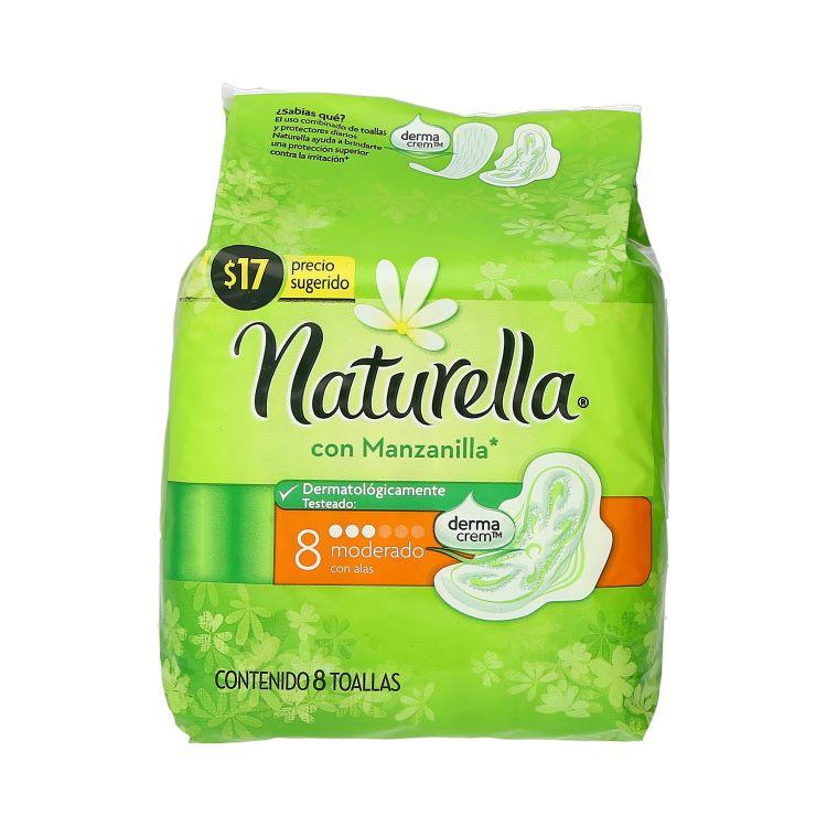 Comprar Naturella Manzanilla Con Alas Toalla Sanitaria 1 Bolsa 8 Piezas