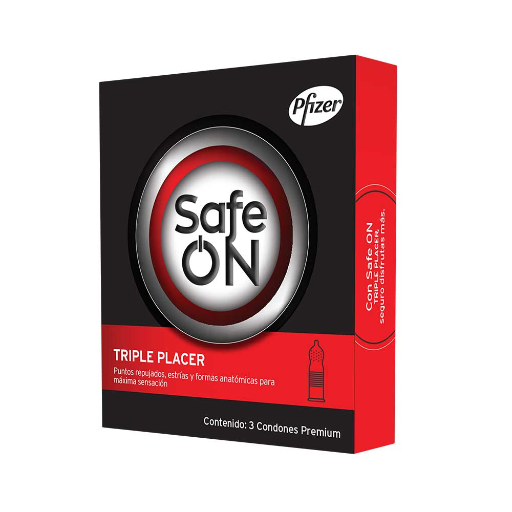 Comprar Safe On Triple Placer Preservativo 1 Blister 3 Piezas