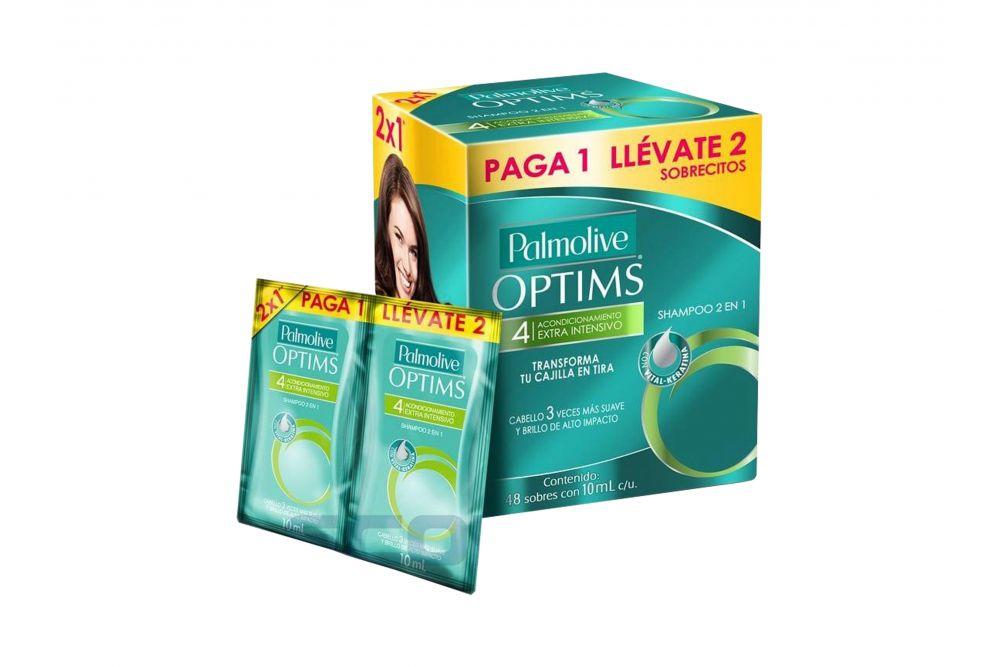 Comprar Palmolive Optims Paga 1 Lleva 2 24 Sobres Shampoo 10 Ml