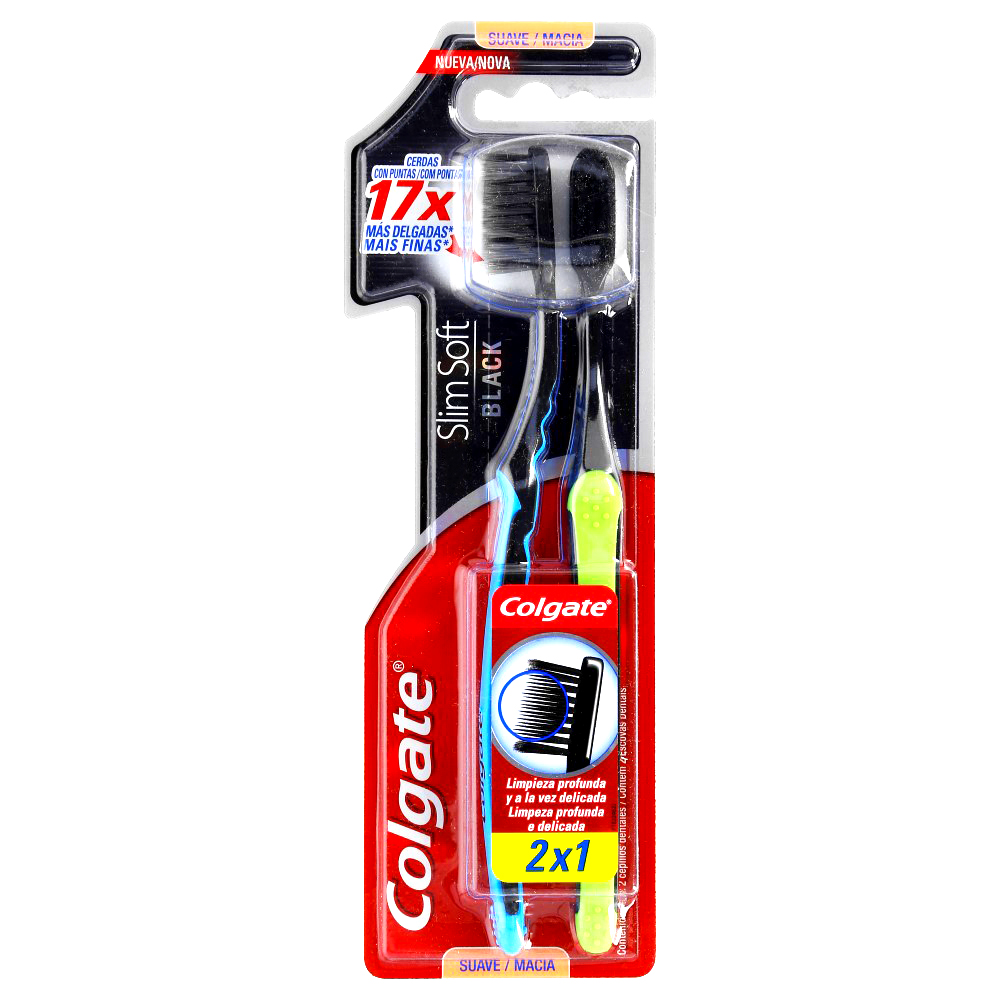 Comprar Colgate Slim Soft Black 2 X 1 1 Blister Cepillo Dental