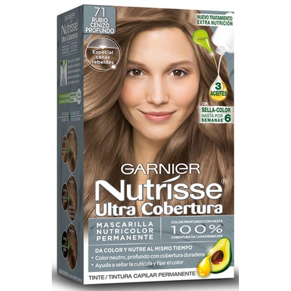 Comprar Nutrisse Tinte Ultra Cobertura 71 Rubio Cenizo 1 Estuche