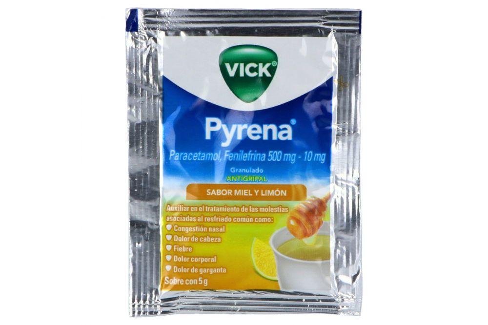 Comprar Vick Pyrena Miel Limon 500 Mg 1 Sobre Granulado 5 Gr