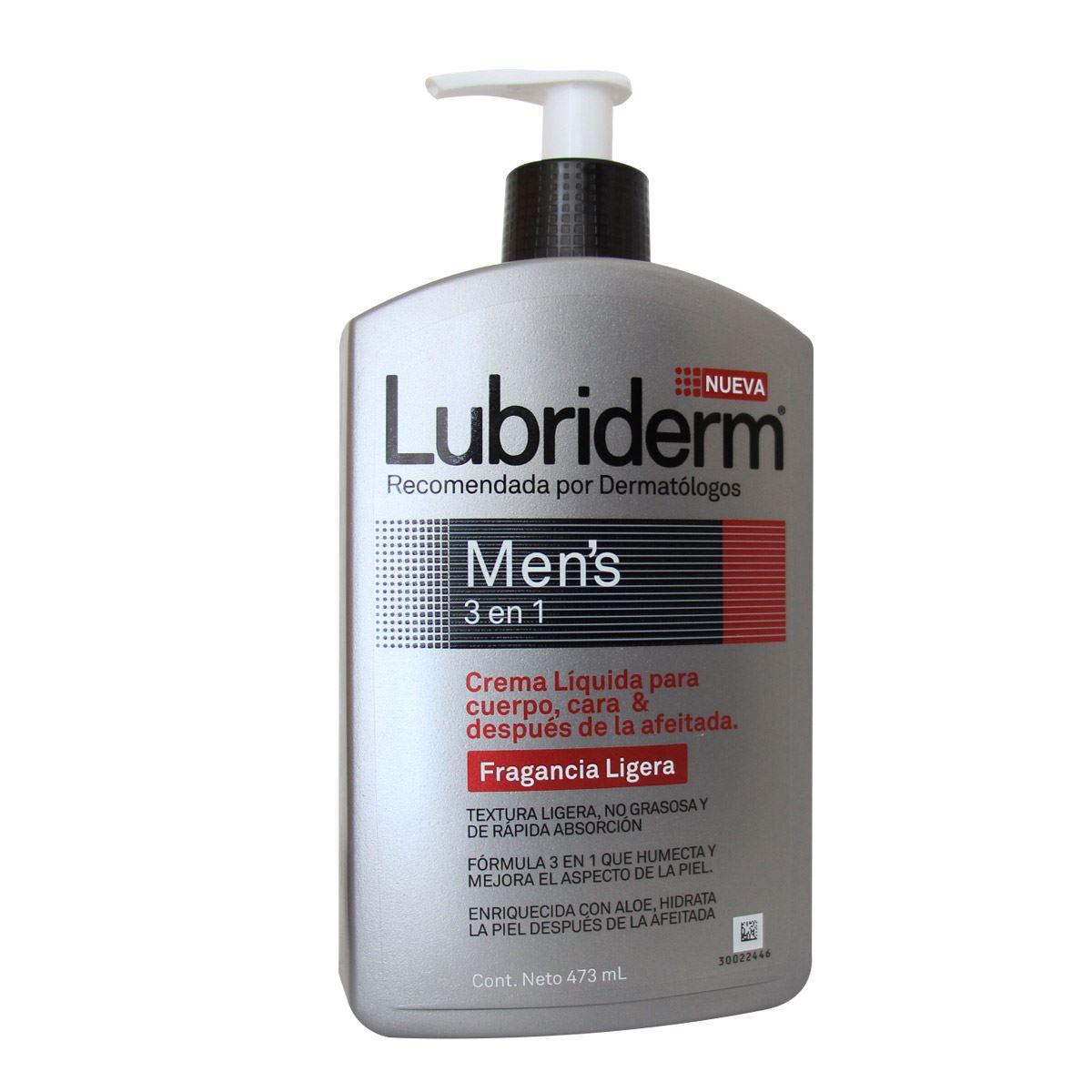 Comprar Lubriderm Men 3 En 1 Fraganc 1 Botella 473 Ml