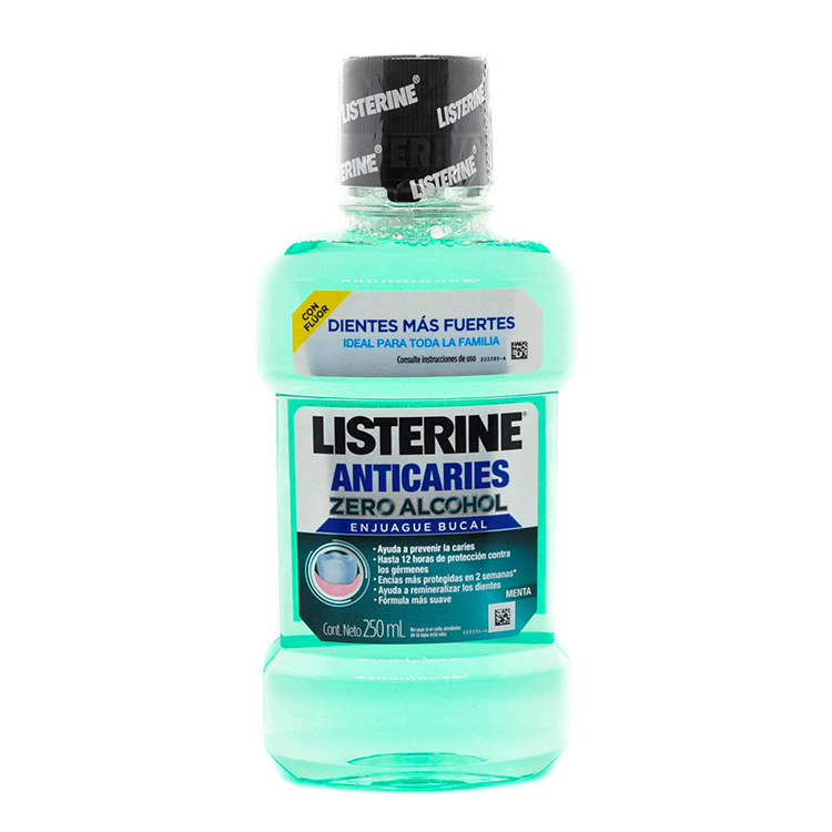 Comprar Lstn Zero Enj Bucal Anticaries 1 Botella Solucion 250 Ml