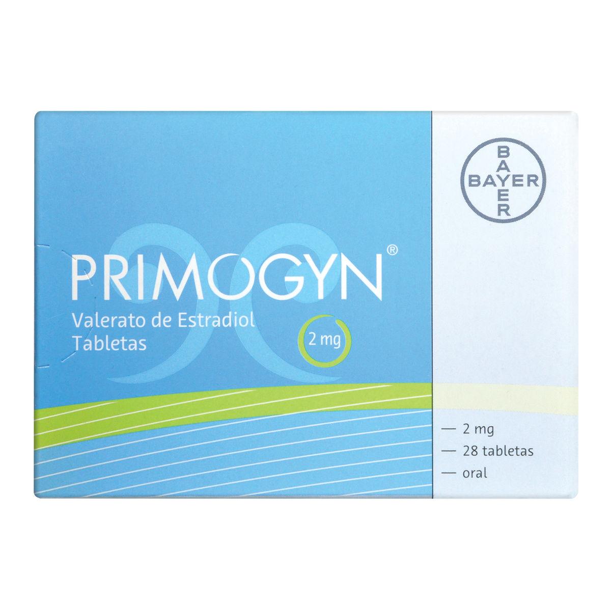 Comprar Primogyn 2 Mg Caja 28 Grageas
