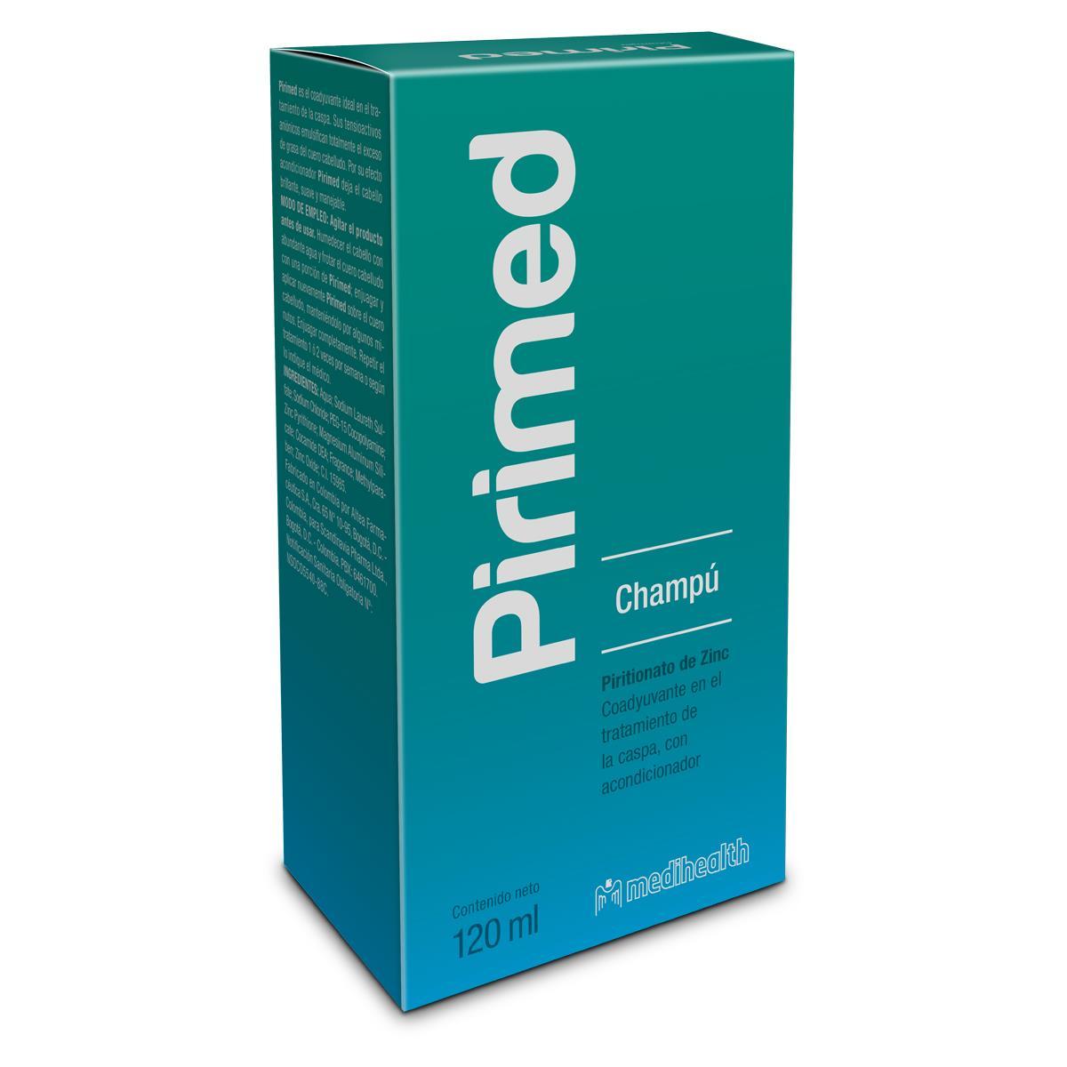Comprar Pirimed Anticaspa 1 Botella Shampoo 120 Ml