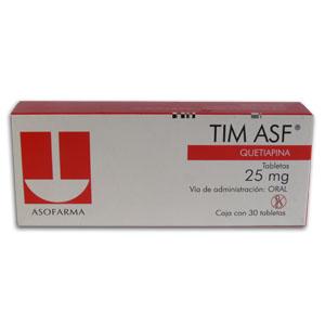 Comprar Tim Asf 25 Mg Caja 30 Tabletas