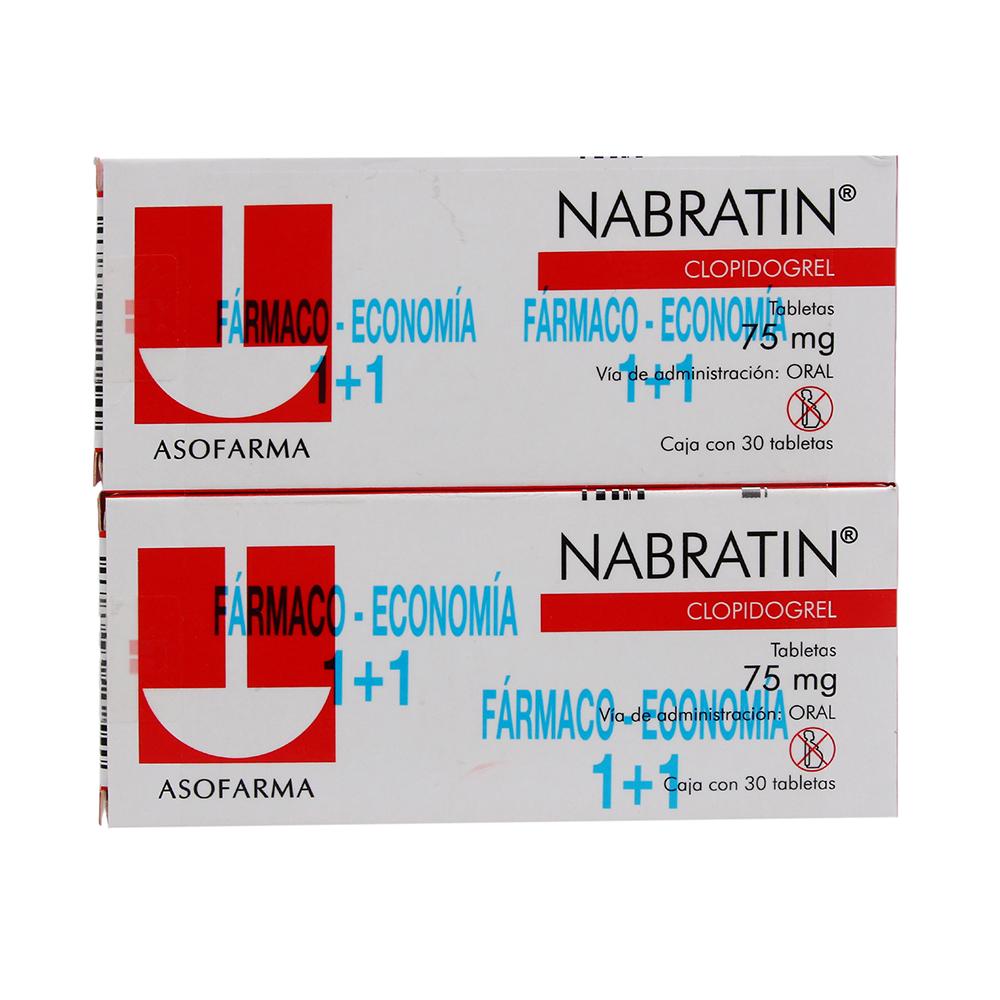Comprar Nabratin 1+1 75 Mg Caja 30 Tabletas
