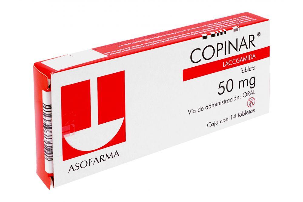 Comprar Copinar 50 Mg Caja 14 Tabletas