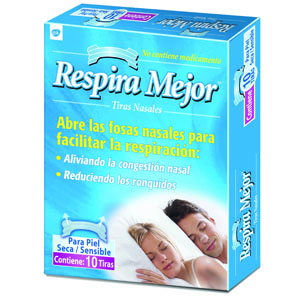 Comprar Respira Mejor Tiras Nasales Transparentes 1 Caja 10 Piezas