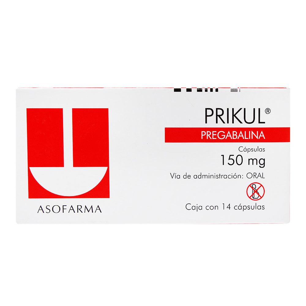 Comprar Prikul 150 Mg Caja 14 Capsulas