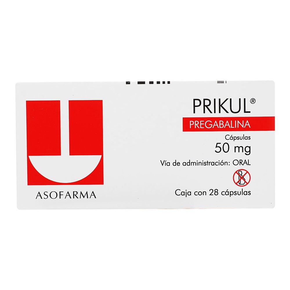 Comprar Prikul 50 Mg Caja 28 Capsulas