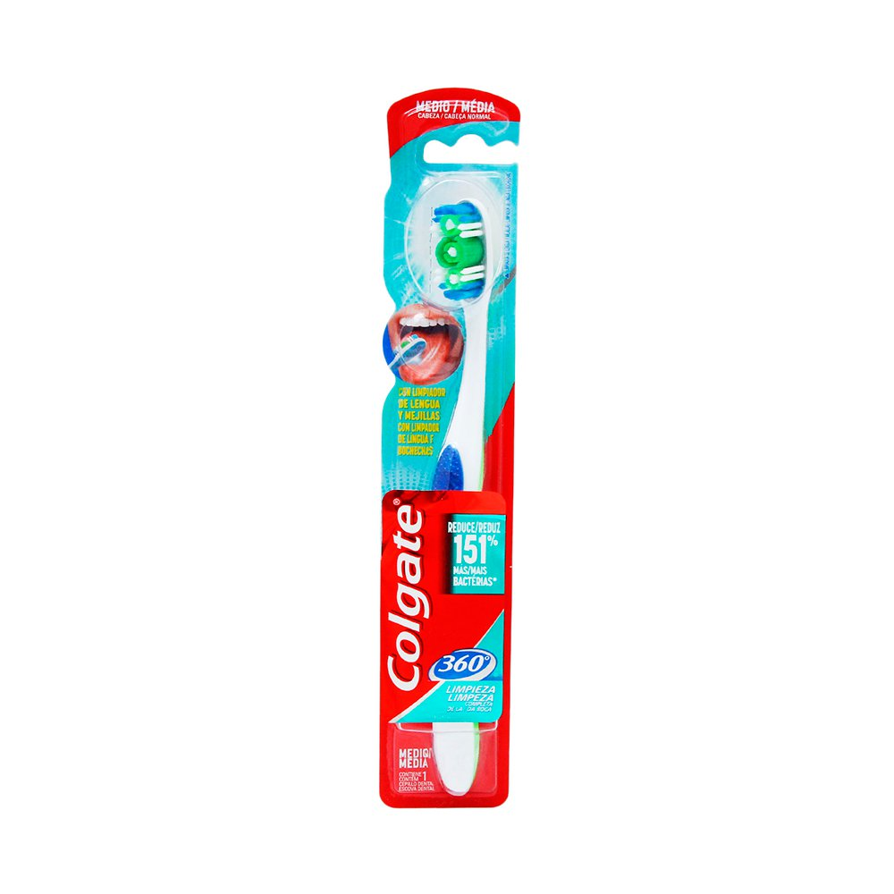 Comprar Colgate 360 Mediano Grande Adulto 1 Blister Cepillo Dental