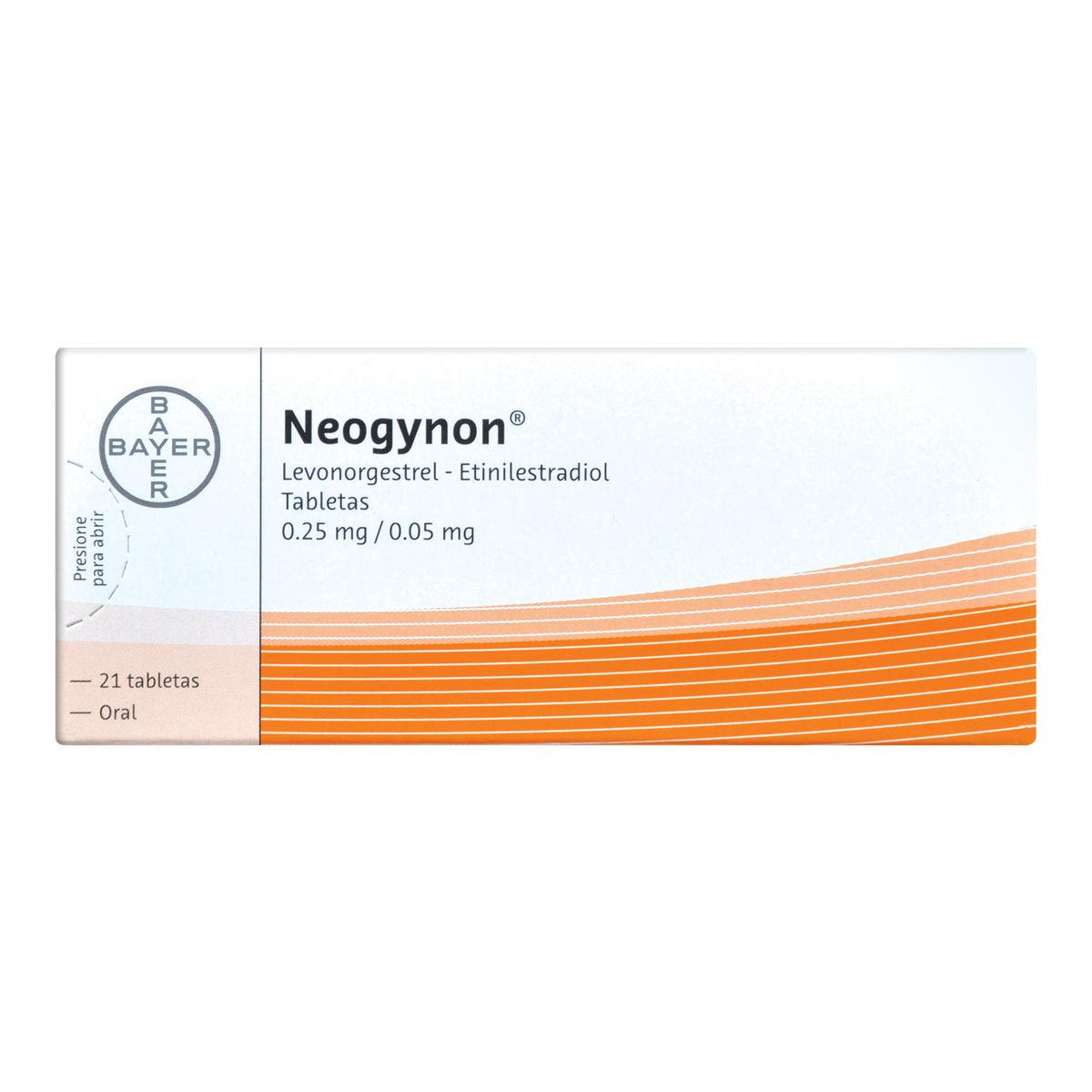 Comprar Neogynon 0.25/0.05 Mg Caja 21 Grageas
