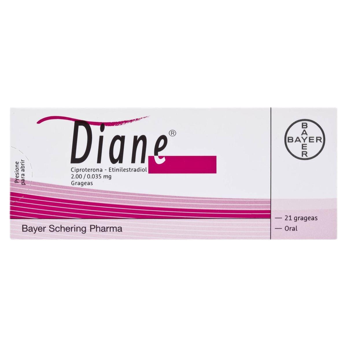 Comprar Diane 2/025 Mg Caja 21 Grageas