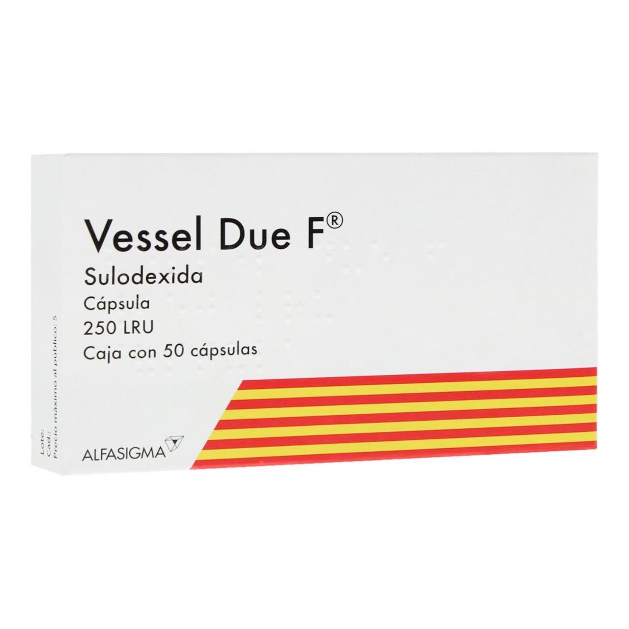 Comprar Vessel Due F 25 Mg Caja 50 Capsulas
