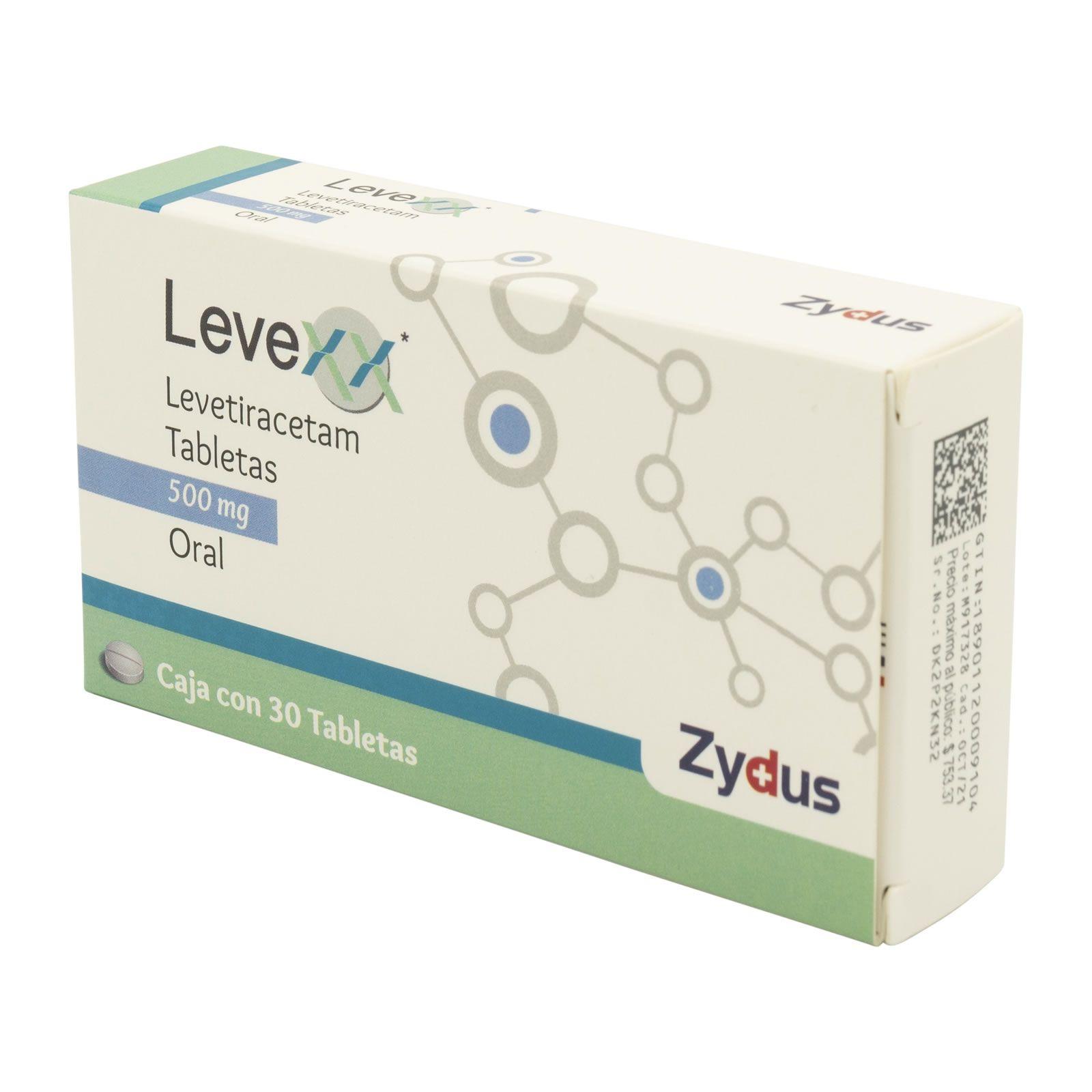 Comprar Levexx 500 Mg Caja 30 Tabletas